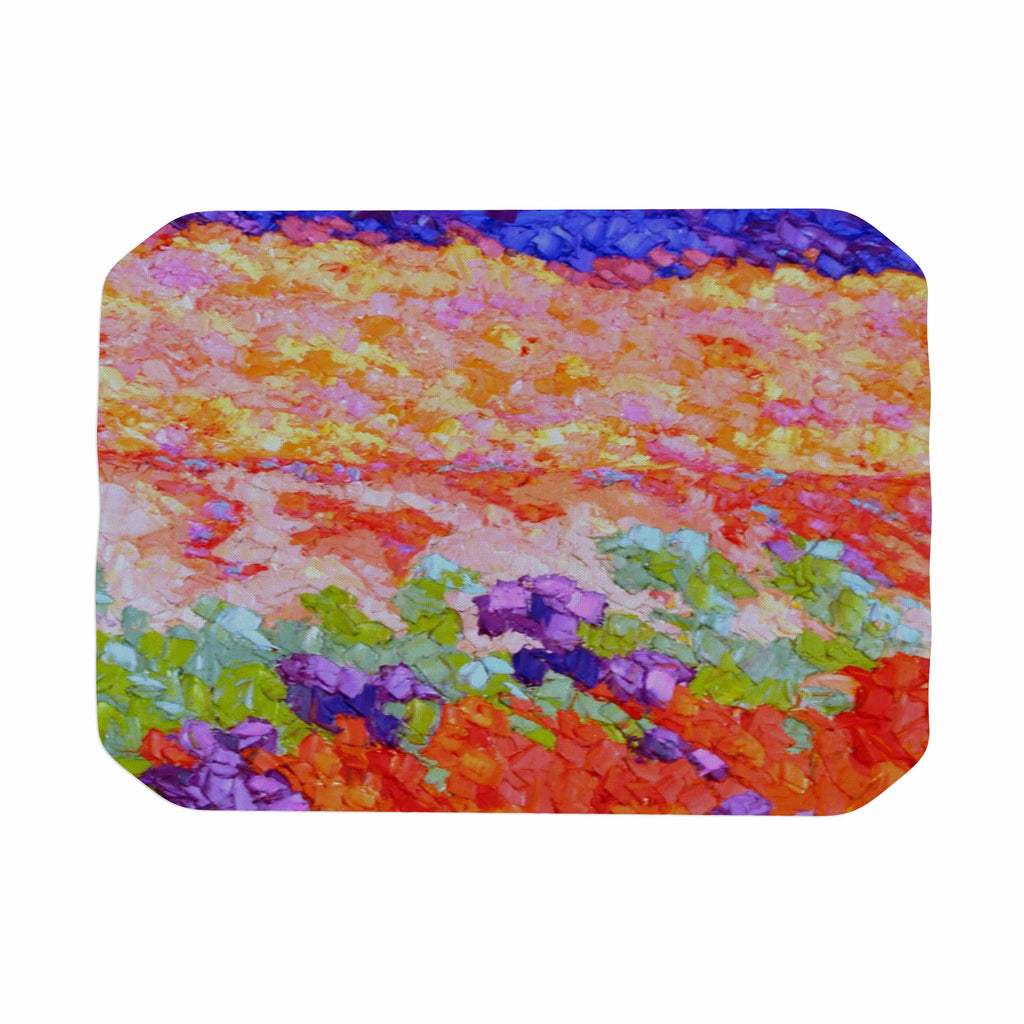 "Jeff Ferst ""Earthly Delights"" Floral Abstract Place Mat - KESS InHouse"