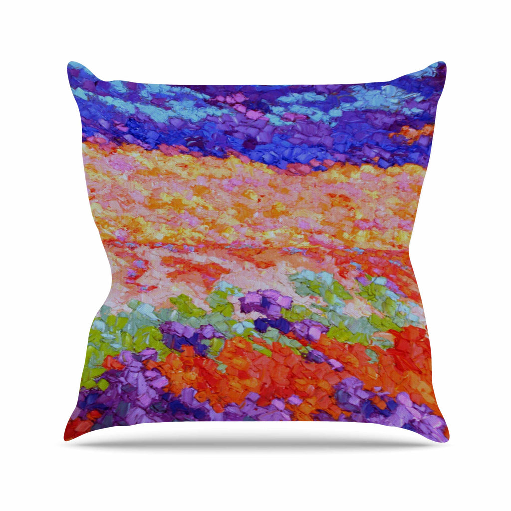 "Jeff Ferst ""Earthly Delights"" Floral Abstract Outdoor Throw Pillow - KESS InHouse  - 1"