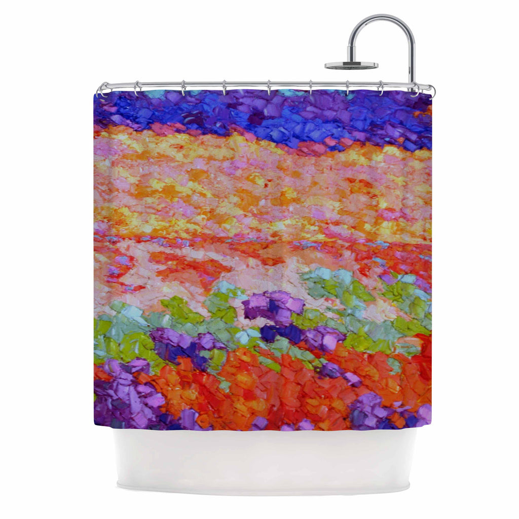 "Jeff Ferst ""Earthly Delights"" Floral Abstract Shower Curtain - KESS InHouse"