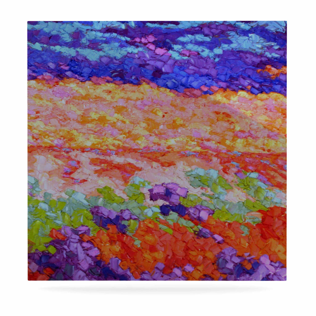 "Jeff Ferst ""Earthly Delights"" Floral Abstract Luxe Square Panel - KESS InHouse  - 1"