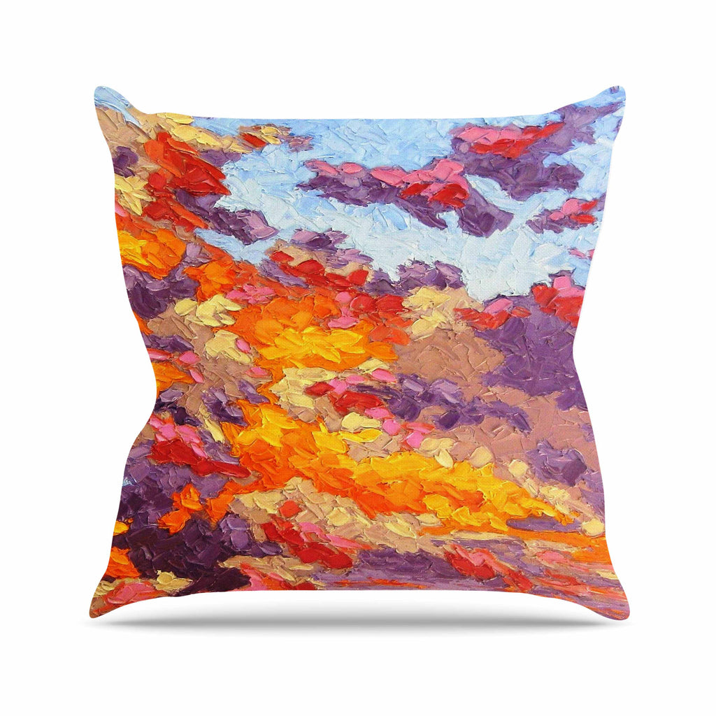 "Jeff Ferst ""Evening Multicolor Sky"" Sunset Sky Throw Pillow - KESS InHouse  - 1"