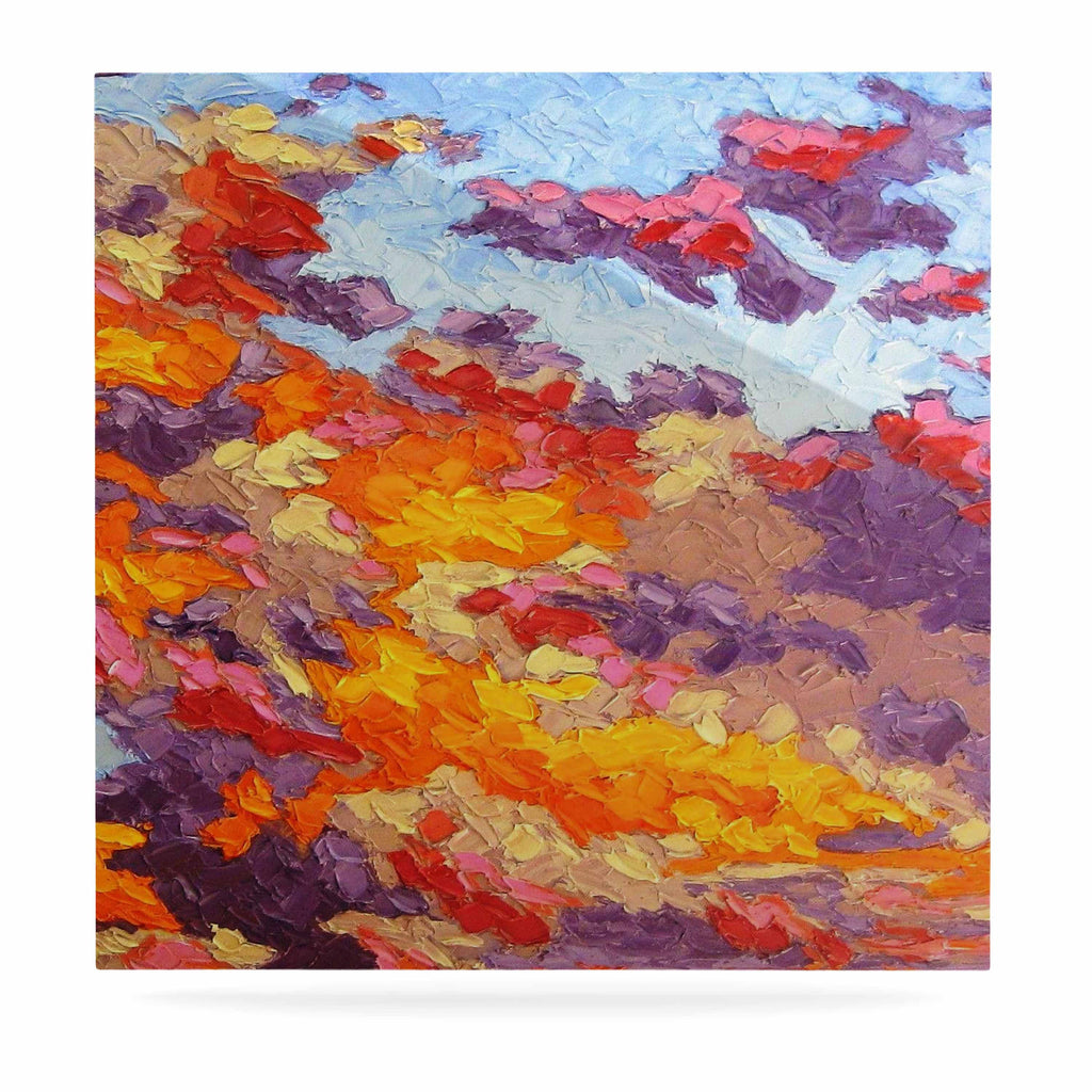 "Jeff Ferst ""Evening Multicolor Sky"" Sunset Sky Luxe Square Panel - KESS InHouse  - 1"