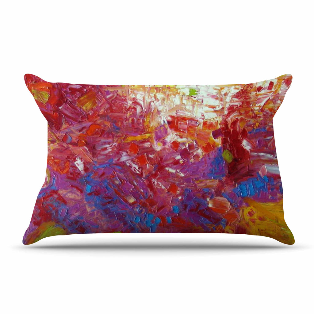 "Jeff Ferst ""Sonoran Fantasy"" Red Abstract Pillow Sham - KESS InHouse"
