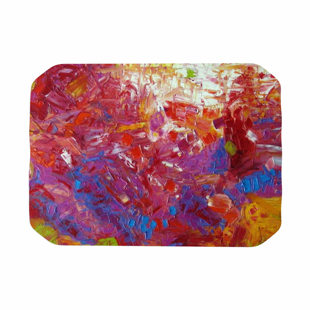 "Jeff Ferst ""Sonoran Fantasy"" Red Abstract Place Mat - KESS InHouse"