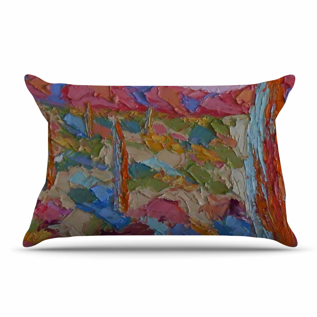 "Jeff Ferst ""Saguaros in Spring"" Blue Multicolor Pillow Sham - KESS InHouse"