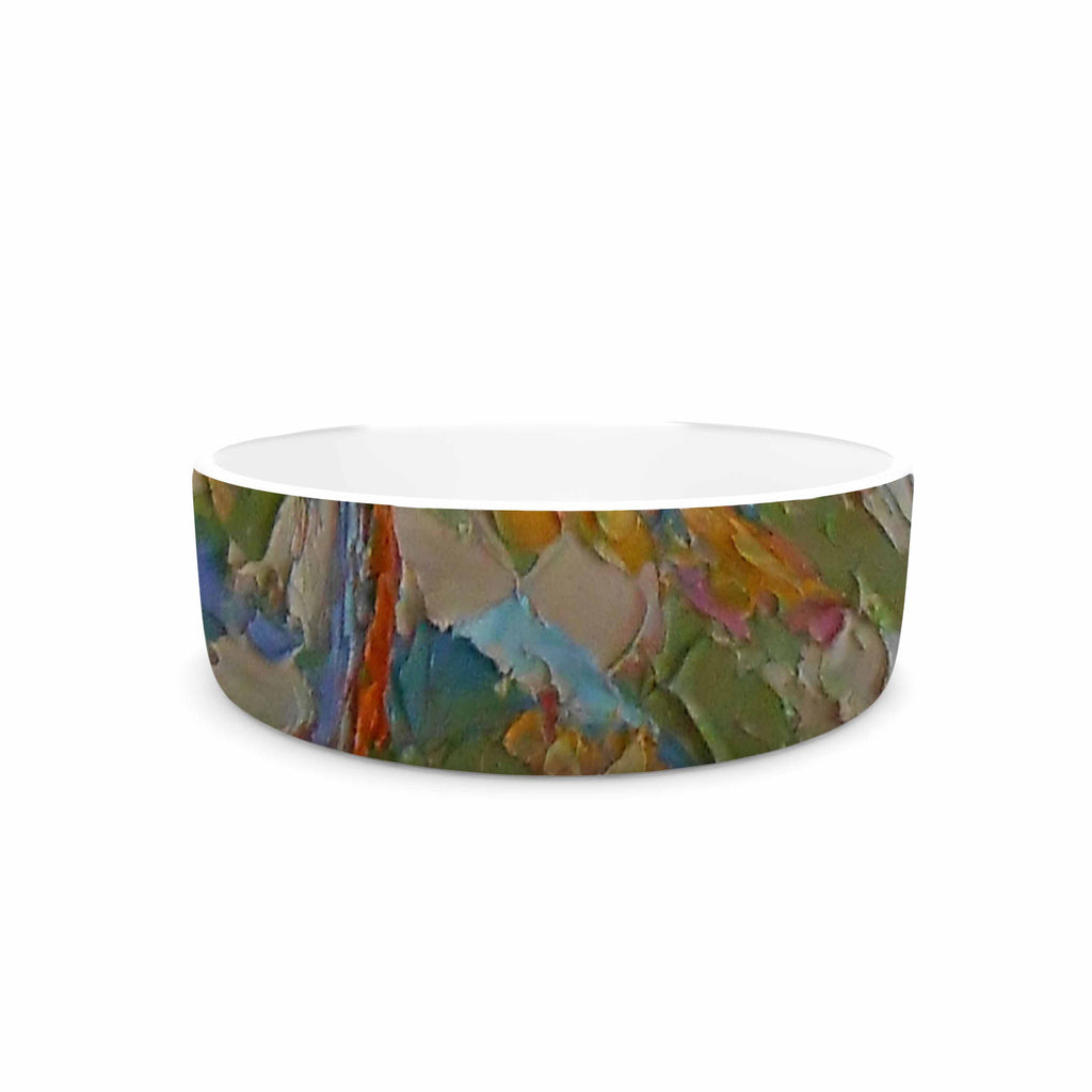 "Jeff Ferst ""Saguaros in Spring"" Blue Multicolor Pet Bowl - KESS InHouse"