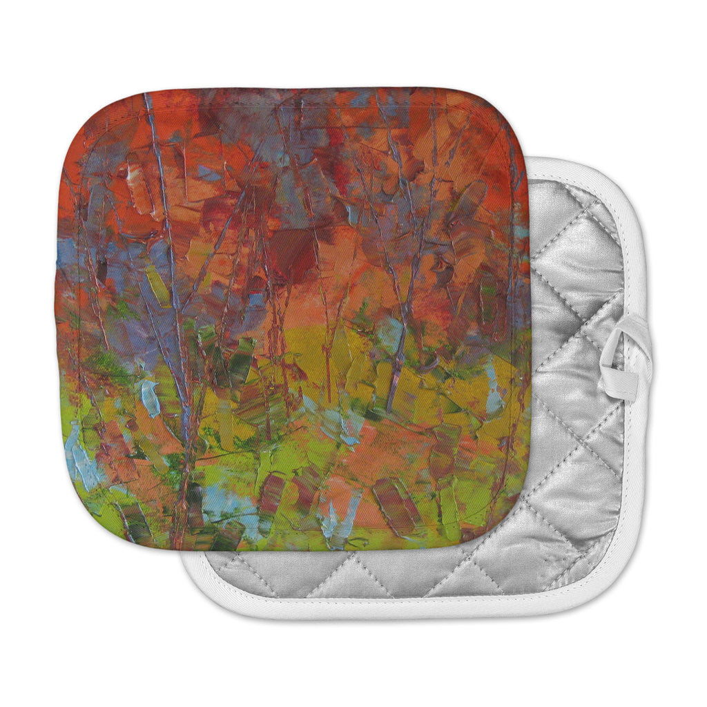 "Jeff Ferst ""Fall Colours"" Red Painting Pot Holder"