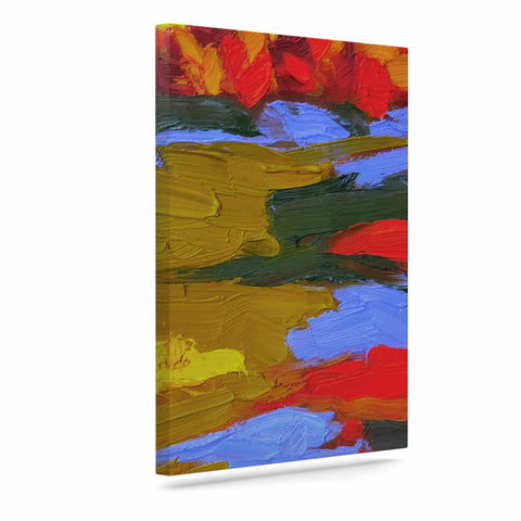 "Jeff Ferst ""Fall"" Yellow Orange Abstract Contemporary Painting Mixed Media Art Canvas"