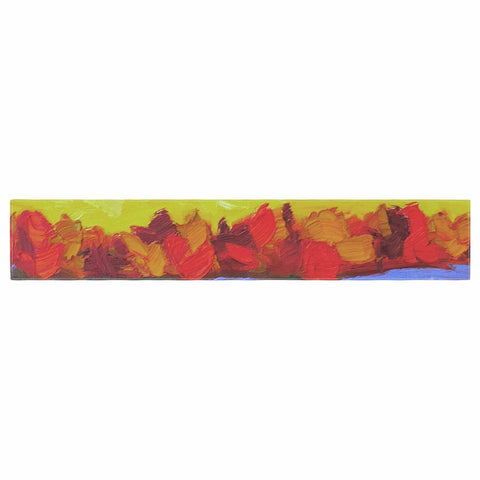 "Jeff Ferst ""Fall"" Yellow Orange Abstract Contemporary Painting Mixed Media Table Runner"