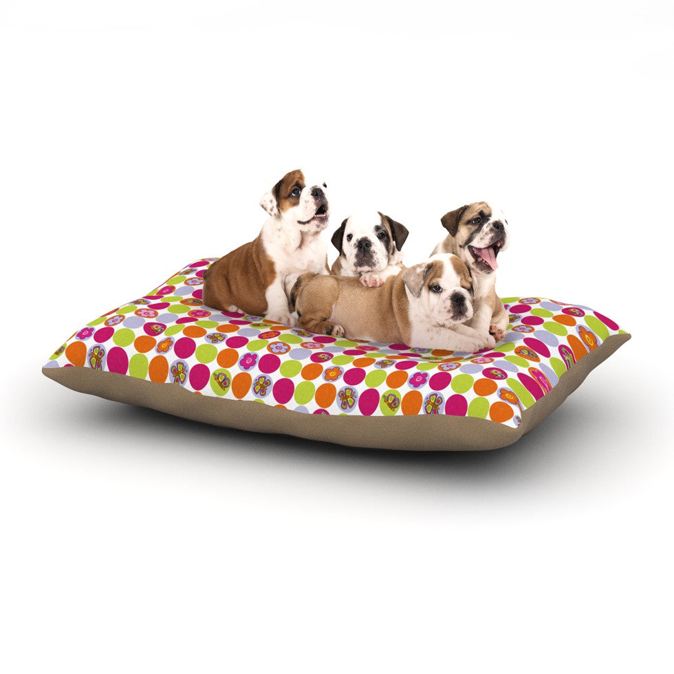 "Julia Grifol ""Happy Circles"" Dog Bed - KESS InHouse  - 1"