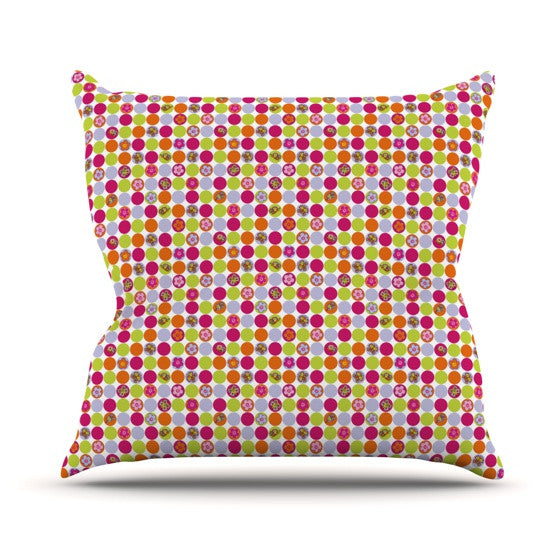 "Julia Grifol ""Happy Circles"" Outdoor Throw Pillow - KESS InHouse  - 1"