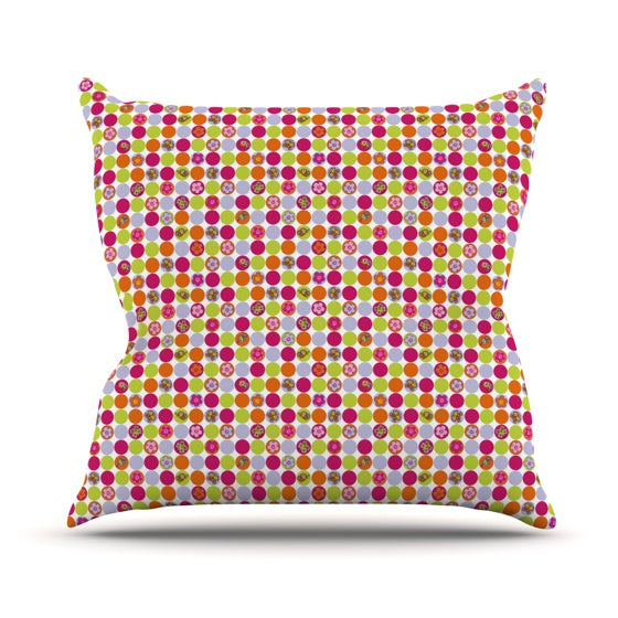 "Julia Grifol ""Happy Circles"" Throw Pillow - KESS InHouse  - 1"