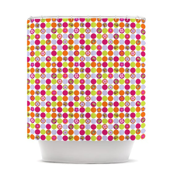 "Julia Grifol ""Happy Circles"" Shower Curtain - KESS InHouse"