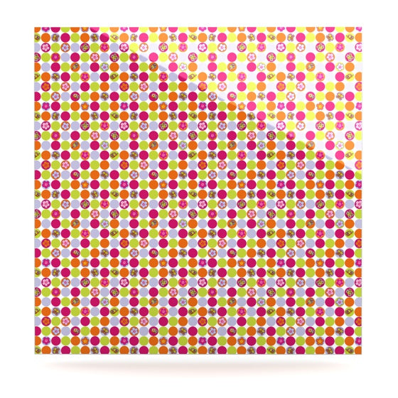 "Julia Grifol ""Happy Circles"" Luxe Square Panel - KESS InHouse  - 1"