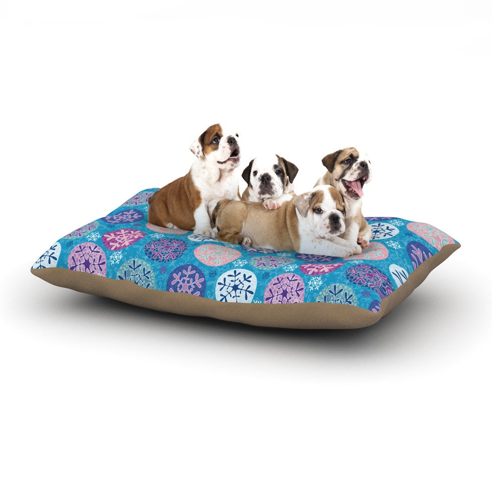 "Julia Grifol ""Floral Winter"" Dog Bed - KESS InHouse  - 1"