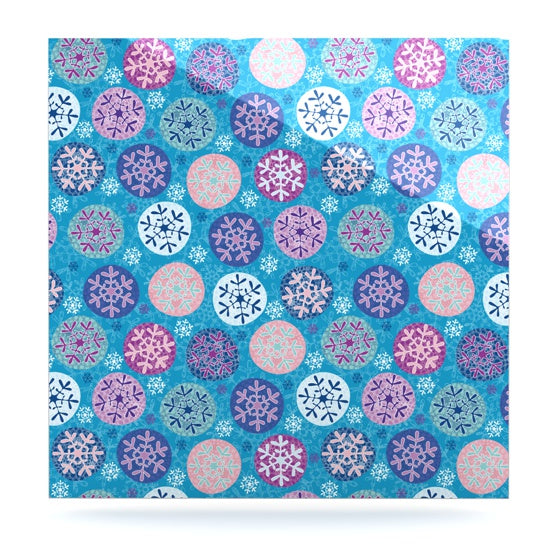 "Julia Grifol ""Floral Winter"" Luxe Square Panel - KESS InHouse  - 1"