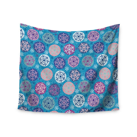"Julia Grifol ""Floral Winter"" Wall Tapestry - KESS InHouse  - 1"