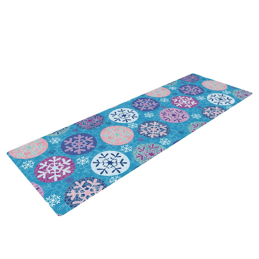"Julia Grifol ""Floral Winter"" Yoga Mat - KESS InHouse  - 1"