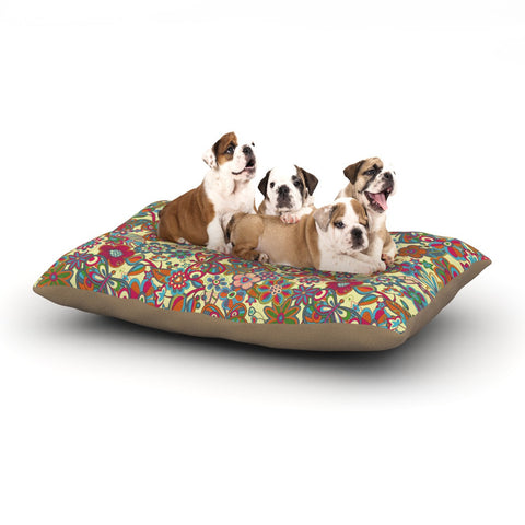 "Julia Grifol ""My Butterflies & Flowers in Yellow"" Dog Bed - KESS InHouse  - 1"