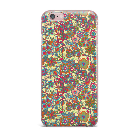 "Julia Grifol ""My Butterflies & Flowers in Yellow"" iPhone Case - KESS InHouse"
