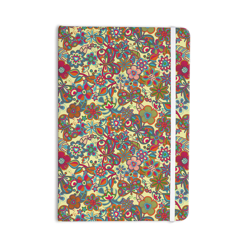 "Julia Grifol ""My Butterflies & Flowers in Yellow"" Everything Notebook - KESS InHouse  - 1"