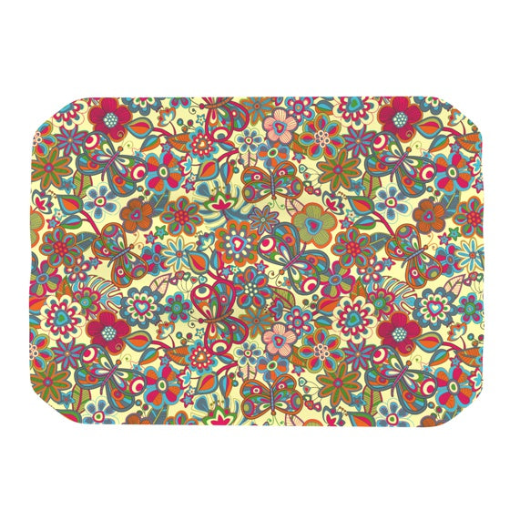 "Julia Grifol ""My Butterflies & Flowers in Yellow"" Place Mat - KESS InHouse"