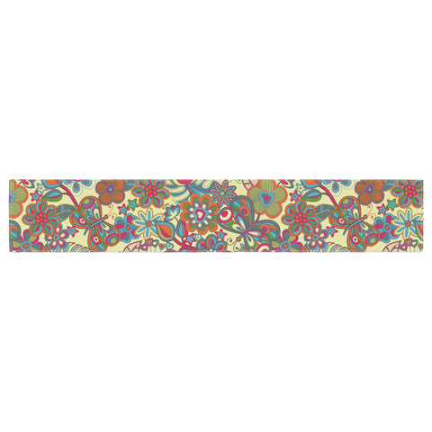 "Julia Grifol ""My Butterflies & Flowers in Yellow"" Table Runner - KESS InHouse  - 1"