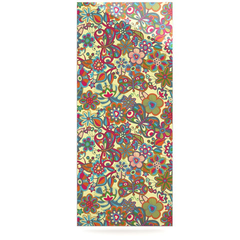 "Julia Grifol ""My Butterflies & Flowers in Yellow"" Luxe Rectangle Panel - KESS InHouse  - 1"