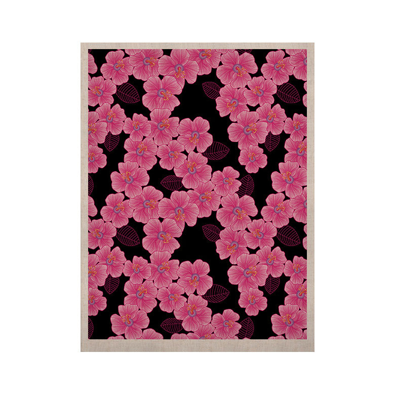 "Julia Grifol ""Pink on Black"" KESS Naturals Canvas (Frame not Included) - KESS InHouse  - 1"