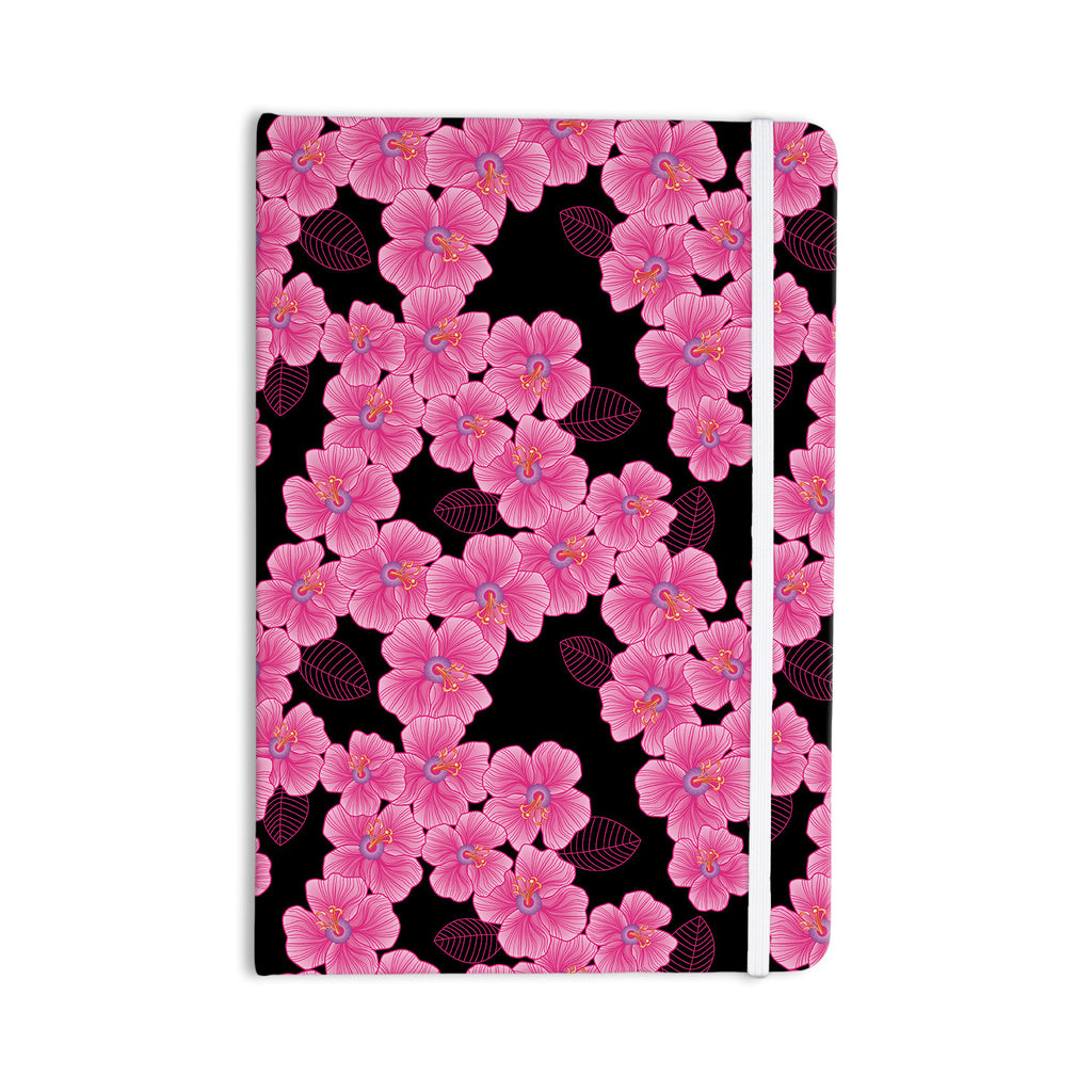 "Julia Grifol ""Pink on Black"" Everything Notebook - KESS InHouse  - 1"