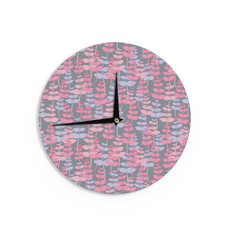 "Julia Grifol ""My Leaves Garden"" Wall Clock - KESS InHouse"