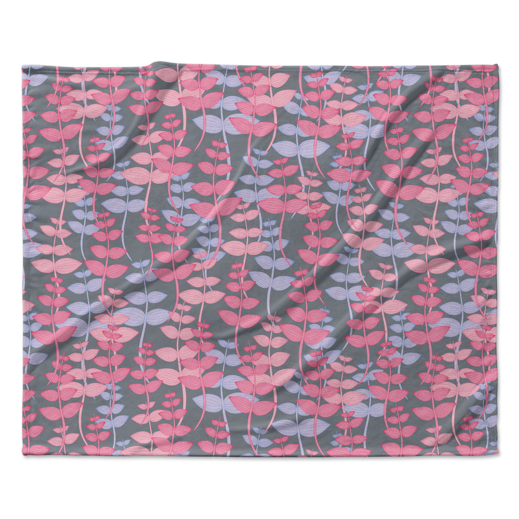 "Julia Grifol ""My Leaves Garden"" Fleece Throw Blanket"