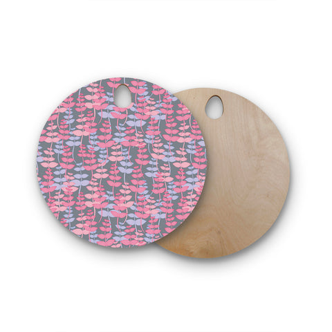 "Julia Grifol ""My Leaves Garden"" Round Wooden Cutting Board"