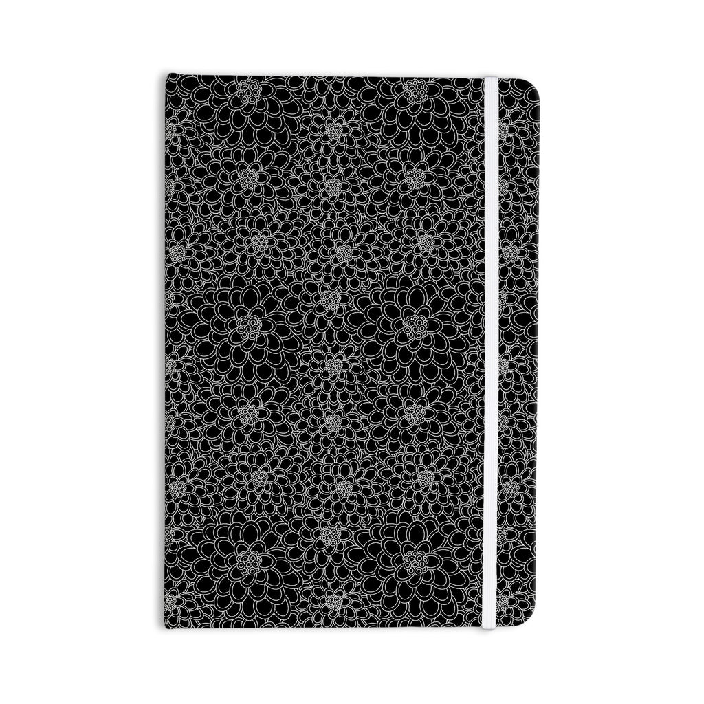 "Julia Grifol ""Black Flowers"" Dark Floral Everything Notebook - KESS InHouse  - 1"