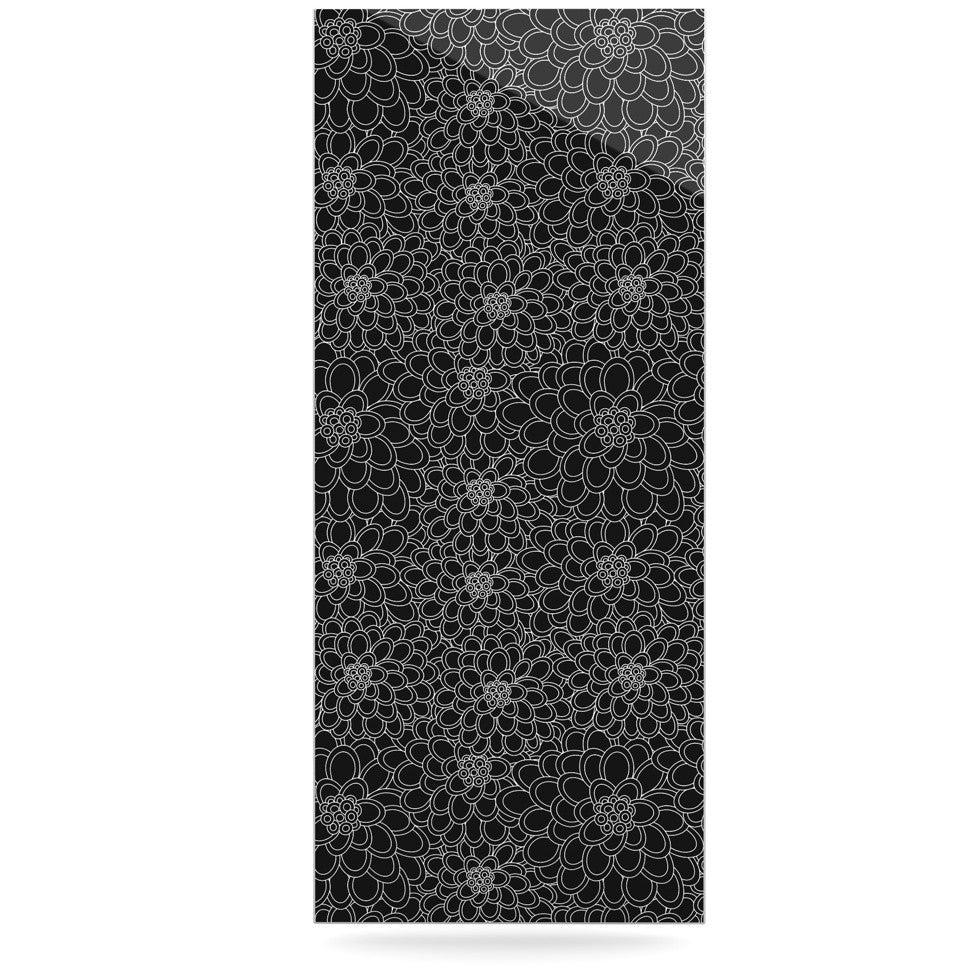 "Julia Grifol ""Black Flowers"" Dark Floral Luxe Rectangle Panel - KESS InHouse  - 1"