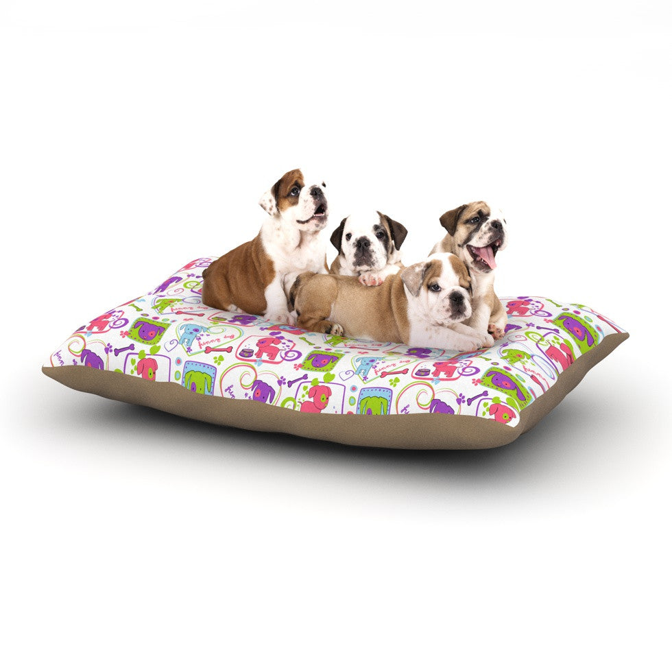 "Julia Grifol ""My Loving Dogs"" Dog Bed - KESS InHouse  - 1"