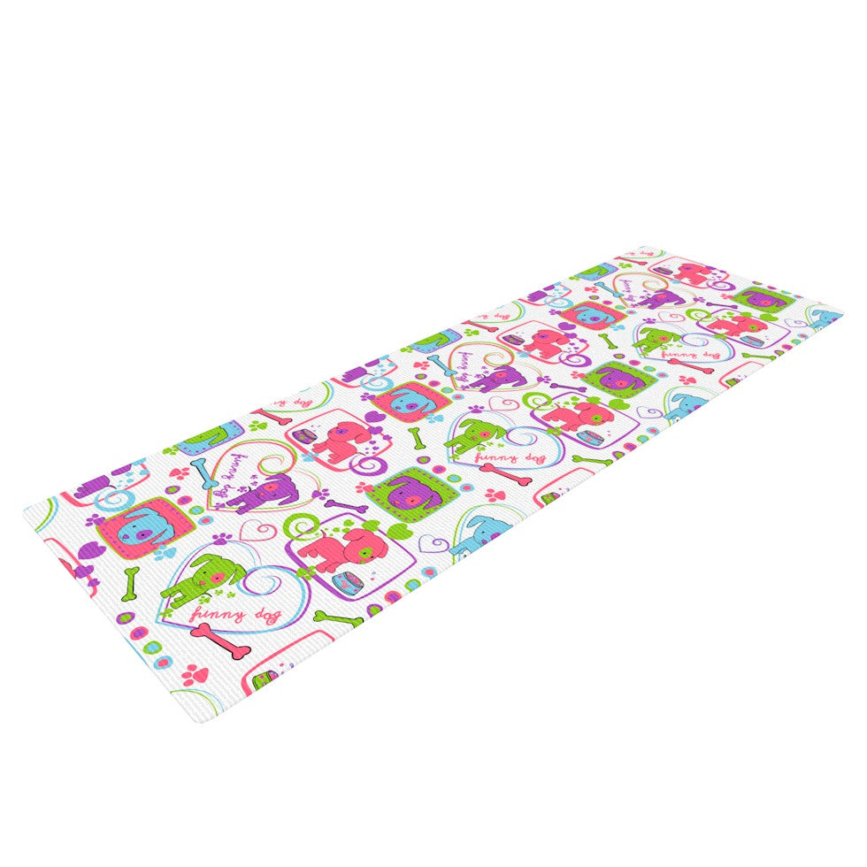 "Julia Grifol ""My Loving Dogs"" Yoga Mat - KESS InHouse  - 1"