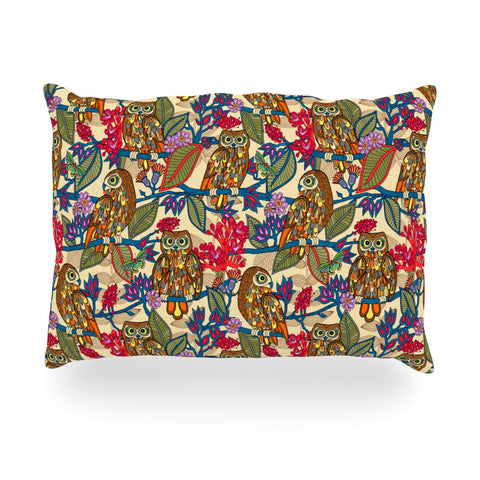 "Julia Grifol ""My Boobooks Owls"" Oblong Pillow - KESS InHouse"