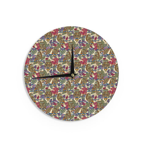 "Julia Grifol ""My Boobooks Owls"" Wall Clock - KESS InHouse"