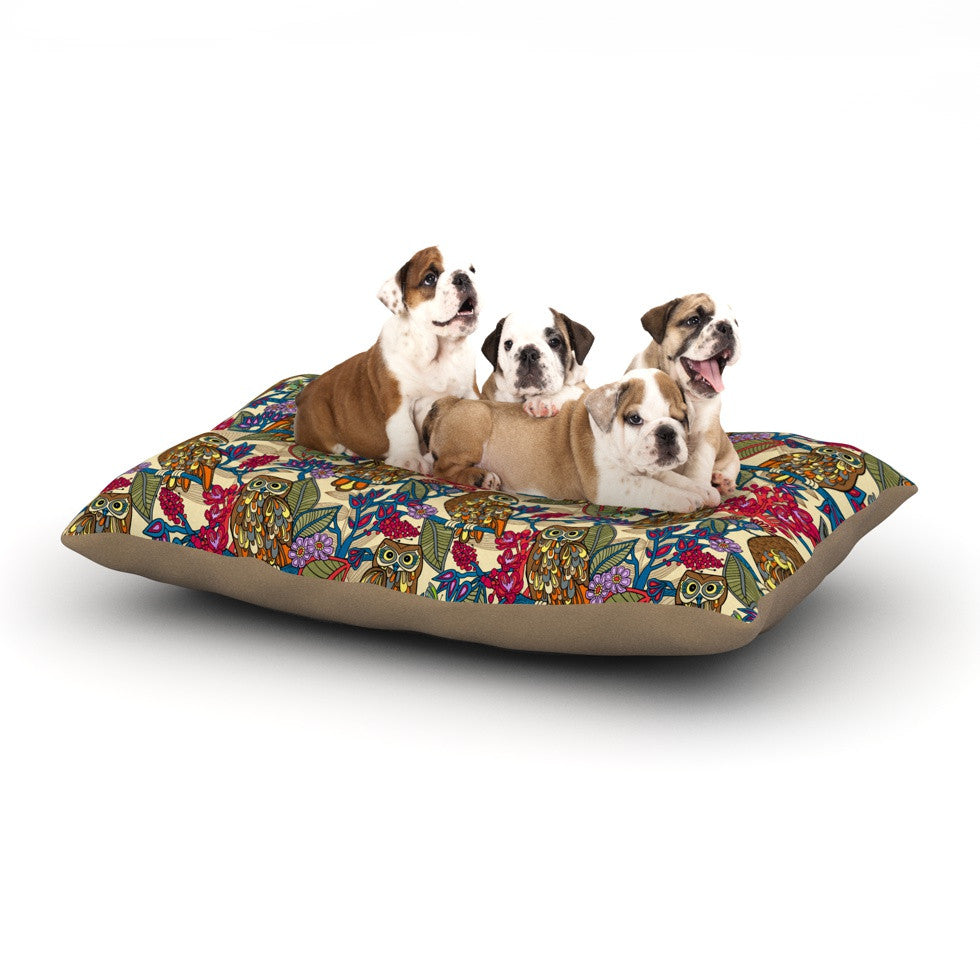 "Julia Grifol ""My Boobooks Owls"" Dog Bed - KESS InHouse  - 1"