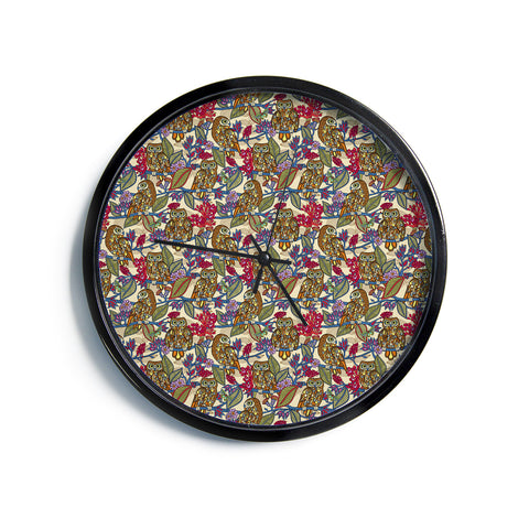 "Julia Grifol ""My Boobooks Owls""  Modern Wall Clock"