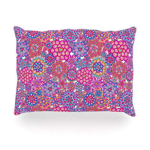 "Julia Grifol ""My Happy Flowers"" Oblong Pillow - KESS InHouse"