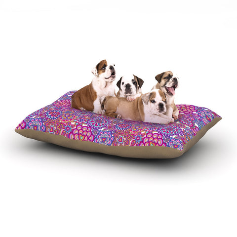"Julia Grifol ""My Happy Flowers"" Dog Bed - KESS InHouse  - 1"