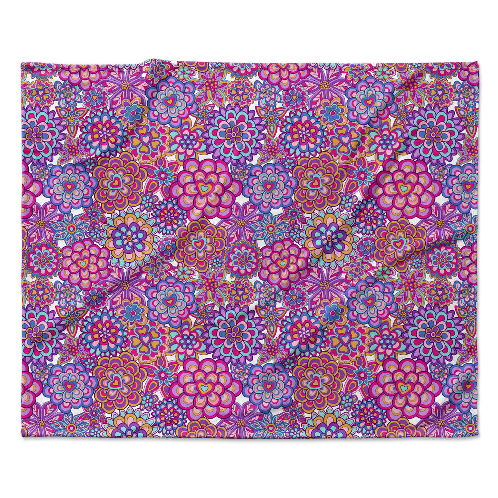 "Julia Grifol ""My Happy Flowers"" Fleece Throw Blanket"