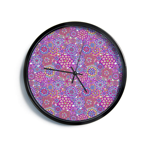 "Julia Grifol ""My Happy Flowers""  Modern Wall Clock"