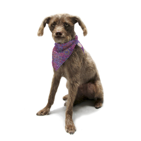 "Julia Grifol ""My Happy Flowers"" Pet Bandana - KESS InHouse  - 1"