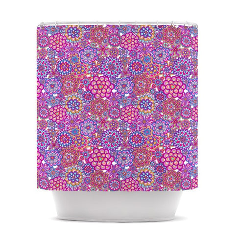 "Julia Grifol ""My Happy Flowers"" Shower Curtain - KESS InHouse"