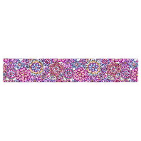 "Julia Grifol ""My Happy Flowers"" Table Runner - KESS InHouse  - 1"