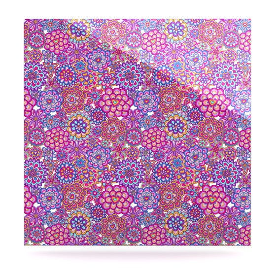"Julia Grifol ""My Happy Flowers"" Luxe Square Panel - KESS InHouse  - 1"