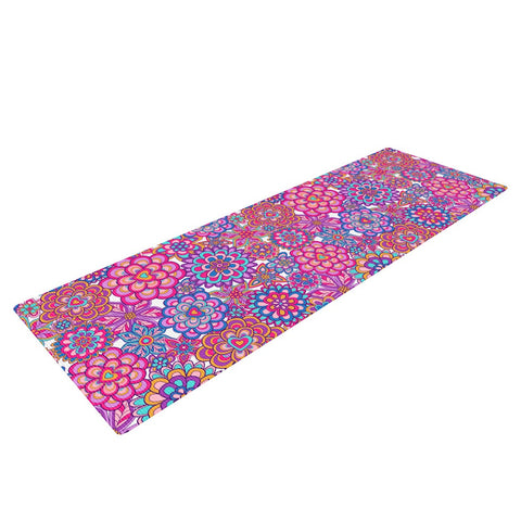 "Julia Grifol ""My Happy Flowers"" Yoga Mat - KESS InHouse  - 1"
